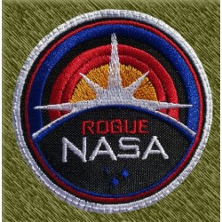 Parche bordado, nasa rouge