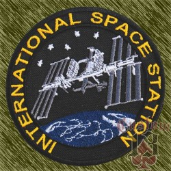 Parche bordado, international space station