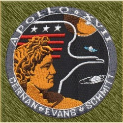 Parche bordado, apollo 17
