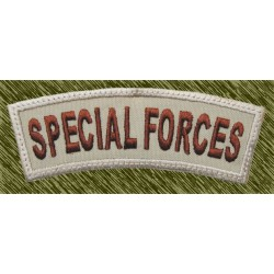 parche bordado, stick special forces curvado beig