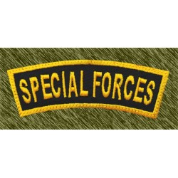 parche bordado, stick special forces curvado