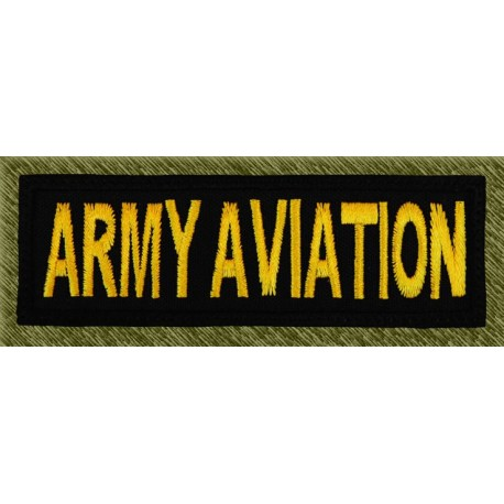parche bordado, stick army aviation negro