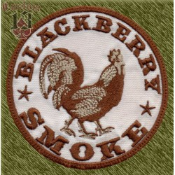 Parche bordado, blackberry smoke gallo
