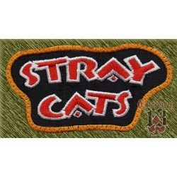Parche bordado, stray cats, nombre
