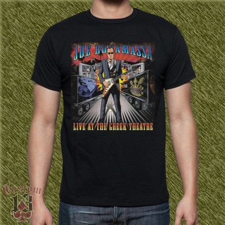 Camiseta negra, joe bonamassa, live at the greek theatre
