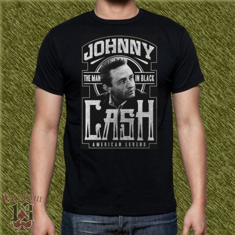 Camiseta negra, johnny cash, the man in black