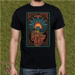 Camiseta negra, allman brothers band, beacon theatre
