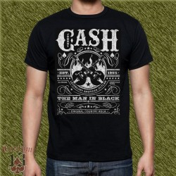 Camiseta negra, johnny cash, est. 1955