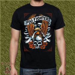 Camiseta negra, foo fighters, eagle