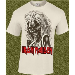 Camiseta beig, iron maiden, killers