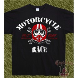 Camiseta negra, motorcycle race
