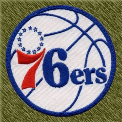Parche bordado NBA, 76ers