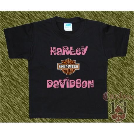 Camiseta de niña, harley davidson