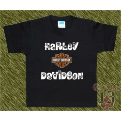 Camiseta de niños, harley davidson