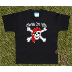 Camiseta de niños, pirate for hire