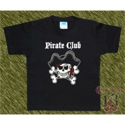 Camiseta de niños, pirate club