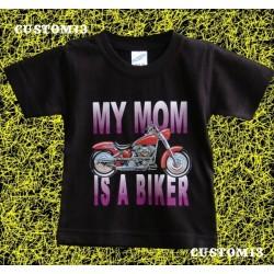 Camiseta de niños, mi mama es motera