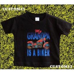 Camiseta de niños, mi abuelo es motero