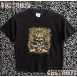 Camiseta de niños, pirata sables