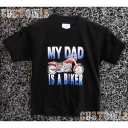 Camiseta de niños, mi papa es motero