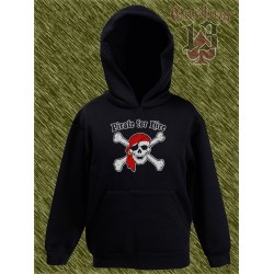 sudadera niño con capucha, pirate for hire