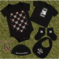 Conjunto de bebe, baby skull corazones