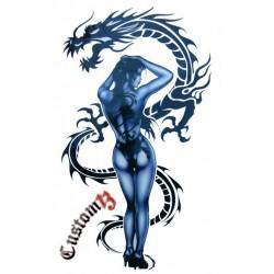 Pegatina chica dragón mediana