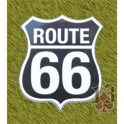 pegatina ruta 66 negra