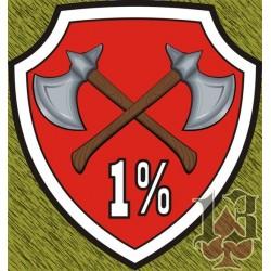 Vinilo escudo 1%
