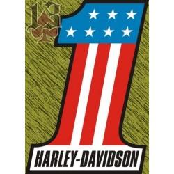 Vinilo Harley 1 bandera