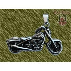 Colgante de acero, moto