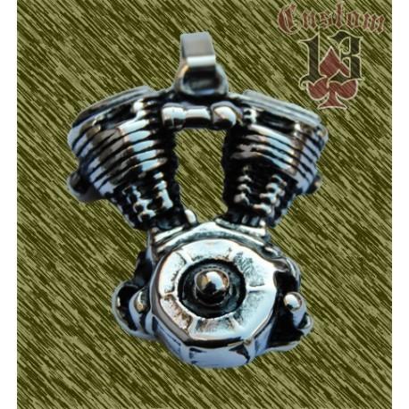 Colgante de acero, motor V-Twin