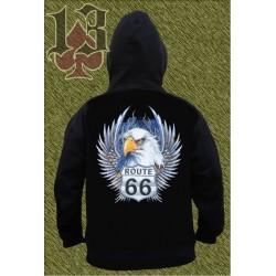 Sudadera con capucha, eagle route 66
