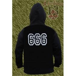 Sudadera con capucha, 666