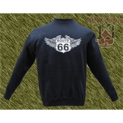 Sudadera sin capucha, Route 66 wings