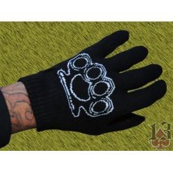 guantes lana fina, puño