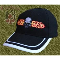 Gorra calavera con fuego