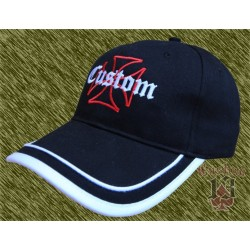 Gorra Custom cruz, doble vivo.