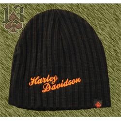 gorro de lana bordado Harley, negro