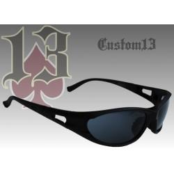 Gafas Custom13, negra, con soportes para graduación