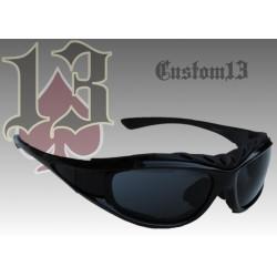 Gafas Custom13, negra, con patillas y goma