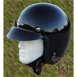 Casco Jet, negro brillo