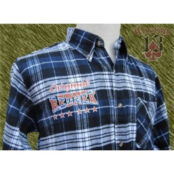 Camisa franela cuadros azul marino, Redneck