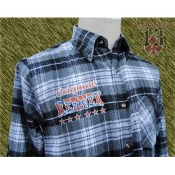 Camisa franela cuadros gris, Redneck
