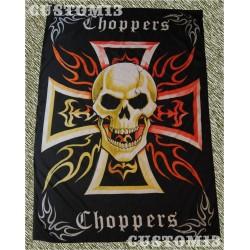 Bandera, chopper con calavera color