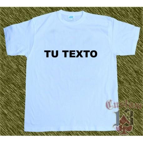Camiseta blanca algodón, personalizada