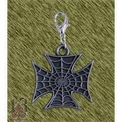 Tirador de cremallera, cruz tela de araña