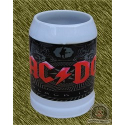 Jarra de porcelana, ac-dc black ice