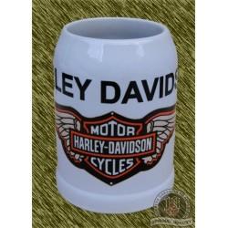 Jarra de porcelana, harley davidson