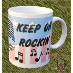 Taza de porcelana, keep on rockin